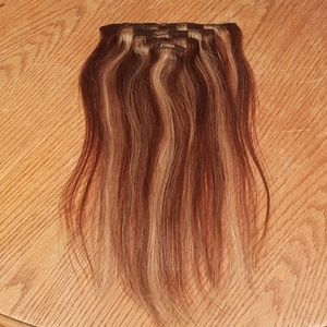 Brown and Blonde Clip-in Hair Extensions